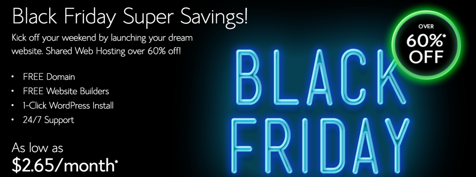 Bluehost Black Friday 2018 Sale & Offers