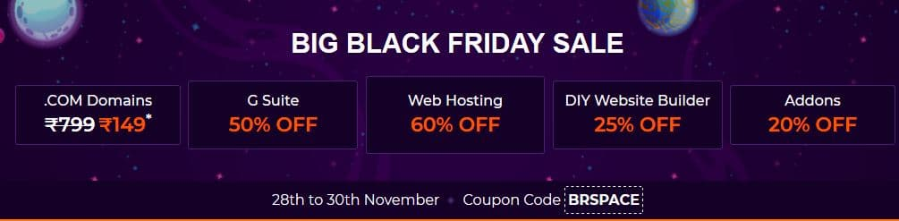 Bigrock Black Friday Sale - 60% Discount, Live Now!