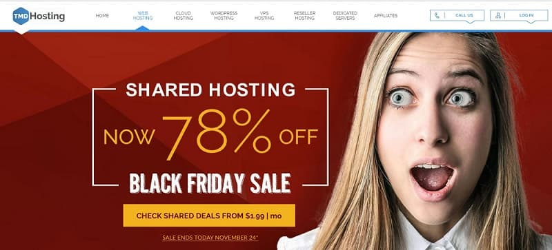 TMDHosting Black Friday Sale - 78% Discount