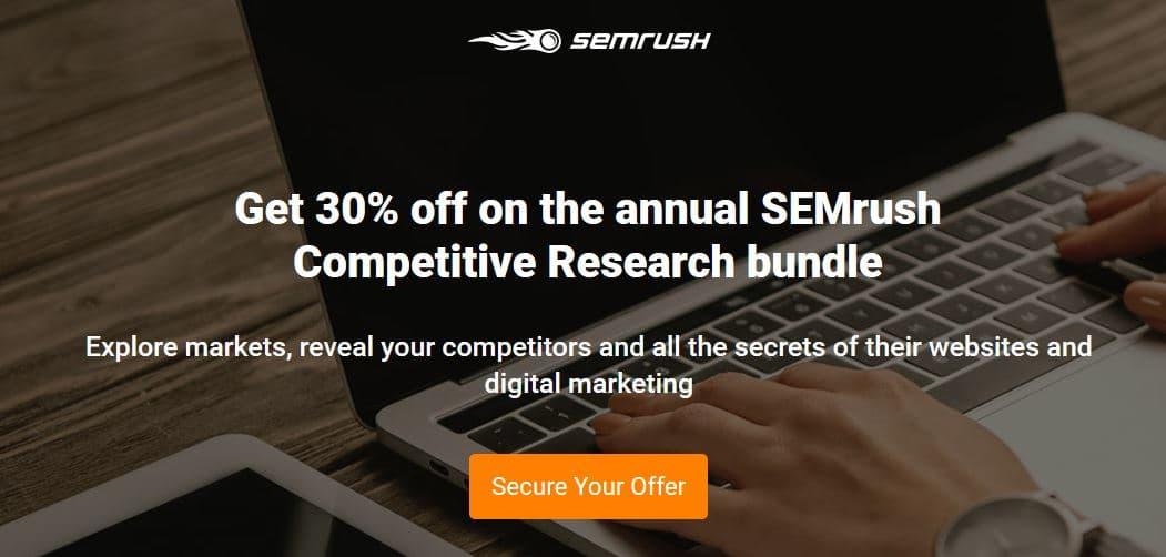 SEMRush Black Friday Sale - Upto 38% Discount