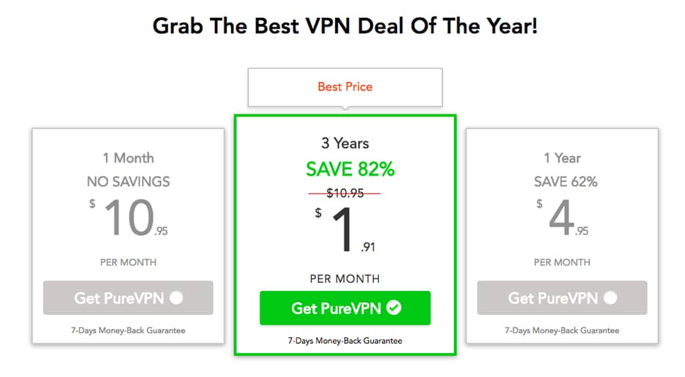 PureVPN 3 Year Deal