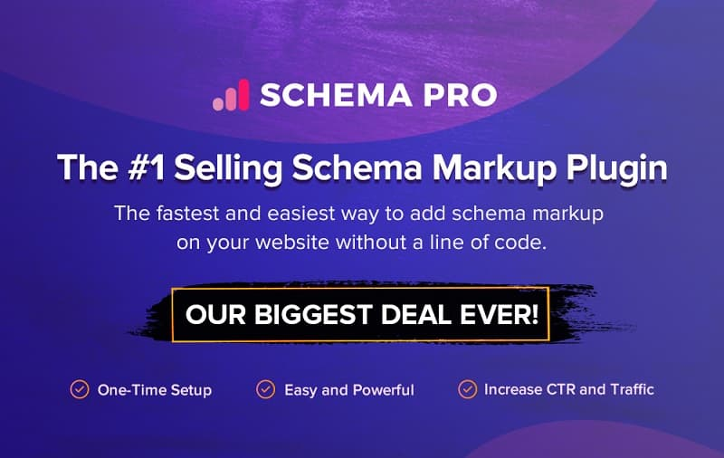 Schema Pro Black Friday Sale 2020 - Grab 30% Discount on All Plans