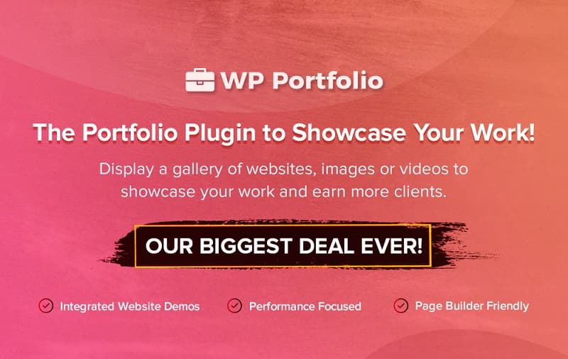WP Portfolio Black Friday Sale - Grab 30% Discount Now