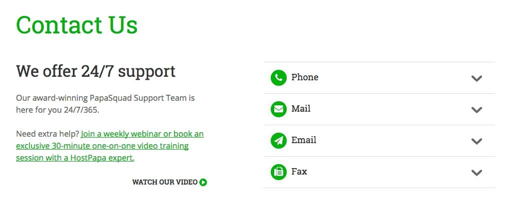 First-Class Customer Support from HostPapa