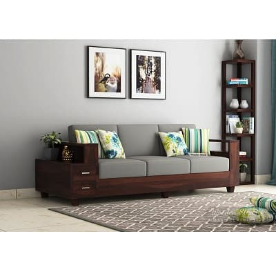 Solace 3 Seater Wooden Sofa