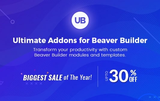 Ultimate Addons for Beaver Builder Black Friday / Cyber Monday