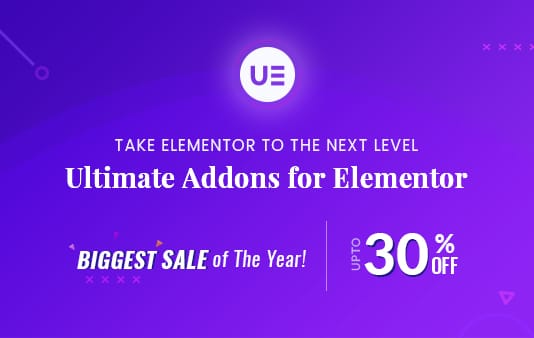 Ultimate Addons for Elementor Black Friday / Cyber Monday