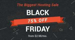 SiteGround Black Friday Sale - 75% Discount