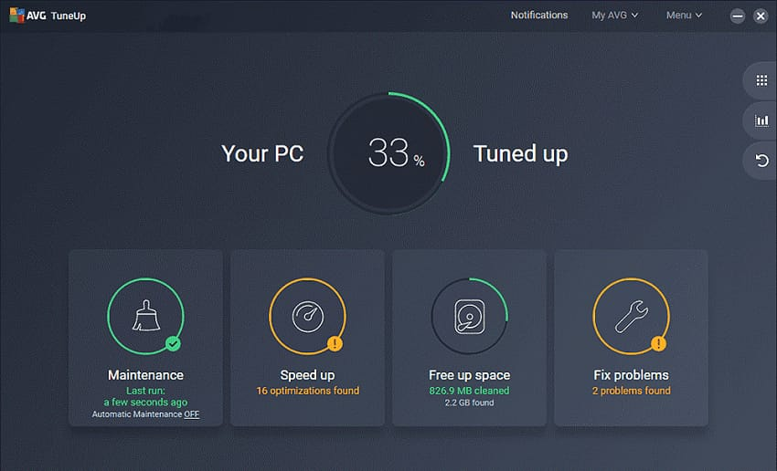 AVG PC Tune Software