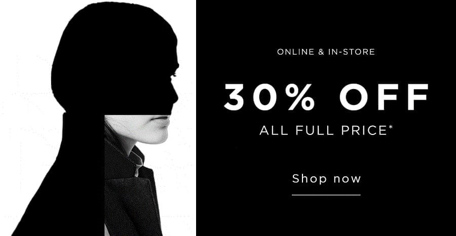 French Connection Black Friday - 30% Off on Full Price