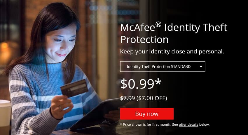 McAfee Christmas Sale: ID Theft Protection at $0.99