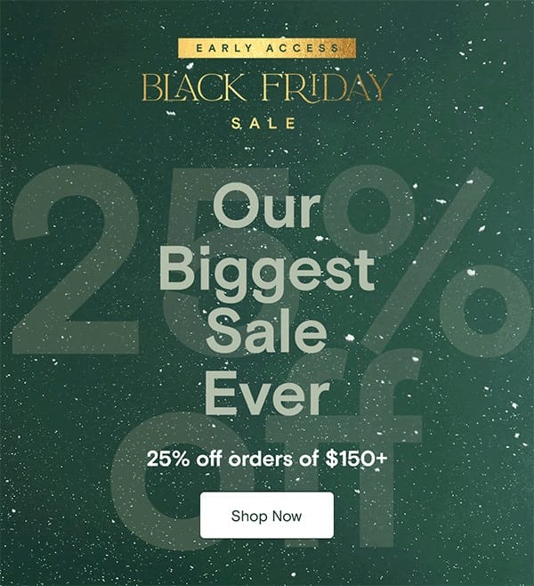 Boll and Branch Black Friday 2021, 25% OFF!