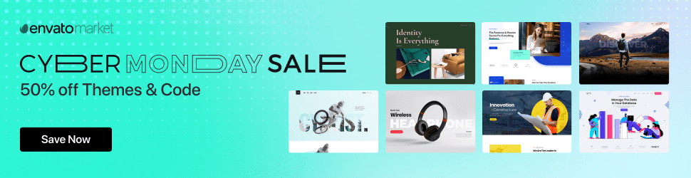 CodeCanyon Cyber Monday Sale, Live Now!