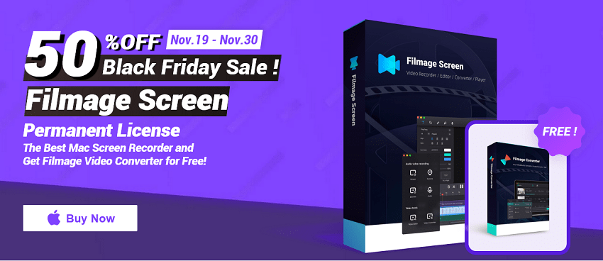 Filmage Screen Black Friday: 50% Discount!