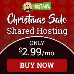 Hostpapa Christmas Sale, $2.99 Only!