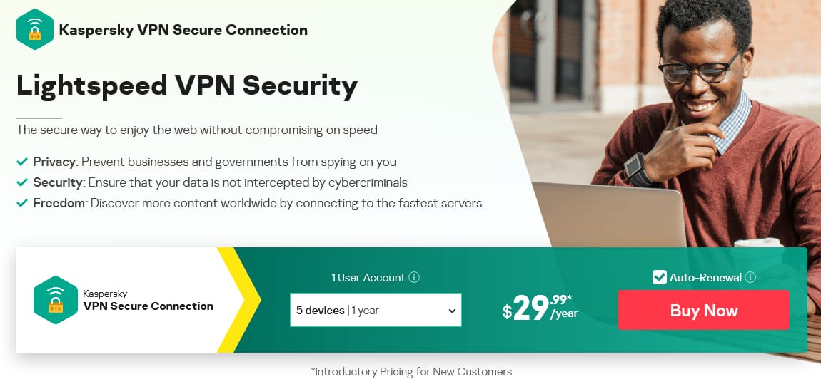 Kaspersky VPN Black Friday Deal